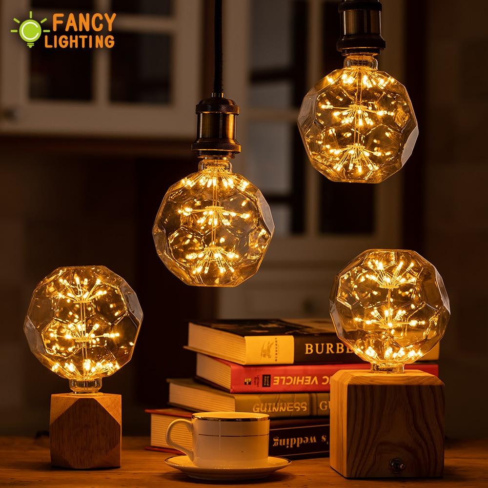 Led Lamp E27 FootBall Starry Sky Led Light Bulb 110V 220V Dimmable Lampada Led For Home/living Room/bedroom Decor Bombillas Led