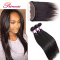 Brazilian Virgin Hair With Closure Ear To Ear Lace Frontal Closure With Bundles Straight Hair With Closure