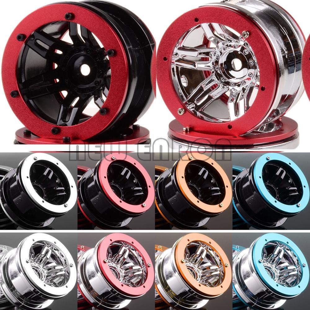 "NEW ENRON 4Pcs 2.2"" Beadlock Wheel Rims RC 1:10 Rock Crawler Car FOR D90 CC01 HSP Axial SCX10 SCX10 II YETI Traxxas TRX4(China)"
