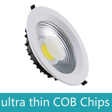 Lámpara de techo decorativa blanca Ultra preciosa regulable foco LED COB AC110V 220V 6 W/9 W/15 W/30 w/60 w foco empotrable LED(China)