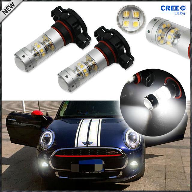 2pcs High Cre E 5200s Led Bulbs For Mini Cooper F55 F56 Halogen Headlamp
