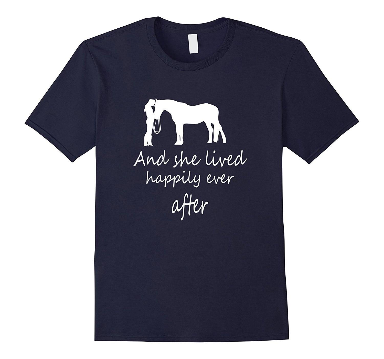 Я увидел ее с лошадь футболка и она жили долго и счастливо печатных Летний стиль футболки мужской Harajuku Топ Фитнес брендовая одежда
