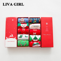 Liva Girl 3D 5 Pairs Christmas Socks Gifts Women Girls Warm Cotton Winter Fuzzy Cute Socks