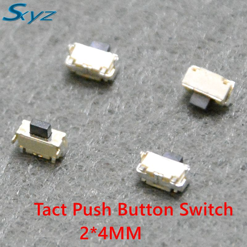 50Pcs 2x4x3.5mm SMT SMD Tact Tactile Push Button Switch SMD Surface Mount Momentary MP3 MP4 MP5 Tablet PC power button switch 50pcs lot smt 3x4x2 5mm 4pin tactile tact push button micro switch g75 self reset car remote control switch free shipping