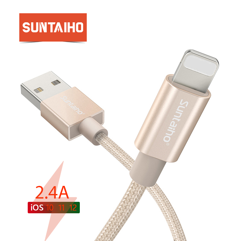 Suntaiho USB Cable For iPhone cable For iPhone charger XR XS MAX X 7 8 plus 6s Data Sync Cord Fast Charging for lighting Cable|gold usb cable|data cable|usb cable - AliExpress