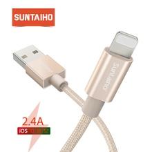 Suntaiho USB כבל עבור iPhone כבל עבור iPhone מטען XR XS מקסימום X 7 8 בתוספת 6s נתונים סנכרון כבל טעינה מהירה עבור תאורה כבל