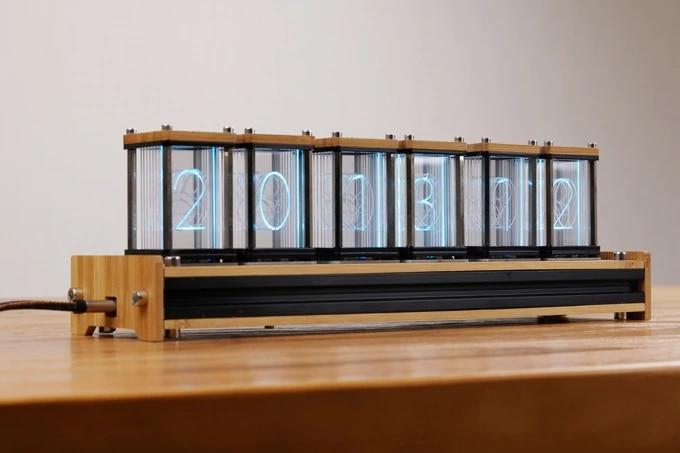 EleksTube Bamboo 6 Bit Kit Time Electronic LED Luminous Glow Nixie Tube Clock Time Flies Lapse|Novelty Lighting| |  - title=
