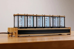 EleksTube Bamboo 6-Bit Kit Time Electronic LED Luminous Glow Nixie Tube Clock Time Flies Lapse
