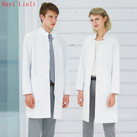 Ruyi Orthopaedic doctor oral dentist doctor's clothing white gown long sleeves operating coat surgical gown beauty salon work