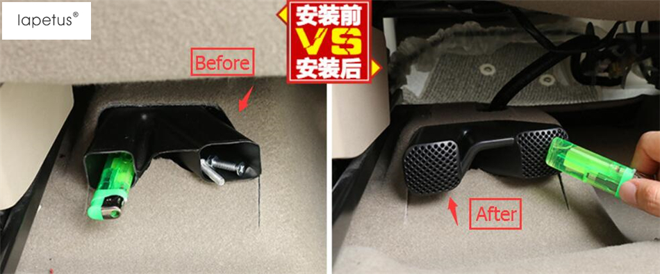 Accessories For Nissan X-Trail X Trail Rogue T32 2014 - 2018 Seat Below Air Conditioning AC Vent Protection Cover Kit Trim