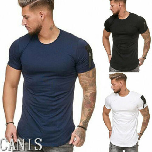 Men/'s o neck t shirts slim fit casual tops summer blouse muscle tee short sleeve