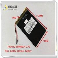 3 7 V 8000mAH 7067112 Polymer lithium ionen batterie/Li Ion batterie für POWER BANK; tablet pc -in Tablet-Akkus & Backup-Stromversorgung aus Computer und Büro bei