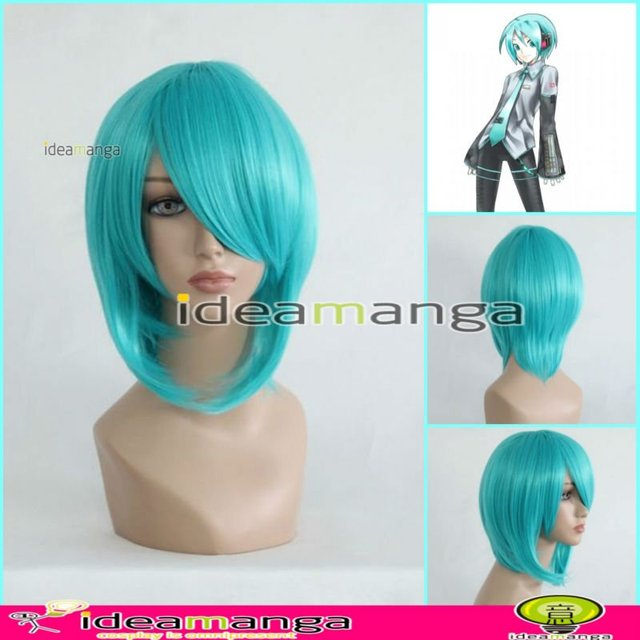 Manga Amime V+ VOCALOID hatsune mikuo Fran GREEN Cosplay Hair Wig High-temperature Resistance Fibers halloween party