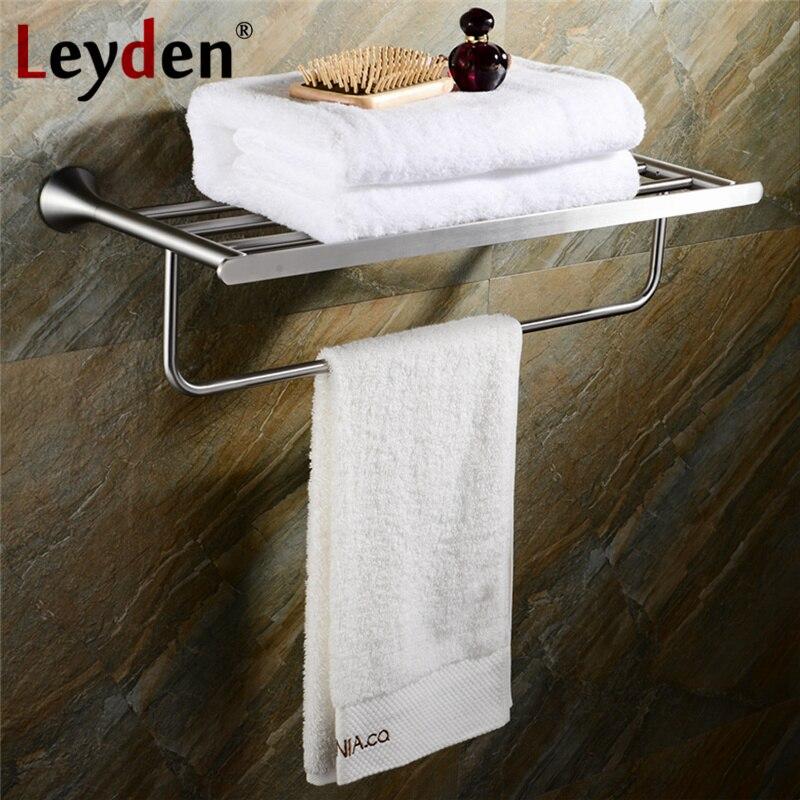 Leyden Stainless Steel Towel Rack Brushed Nickel Towel Holder Rail
