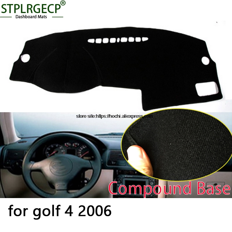 STPLRGECP double layer Black Dash Mat For Volkswagen VW golf 4 MK4 Dashmat Black Carpet Car Dashboard Automotive interior Mats stplrgecp double layer black dash mat