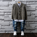 Fashion Boys Sweater Autumn and Winter Kids Cardigan 2016 Children's Single Breasted V Collar Outerwear Free Shipping