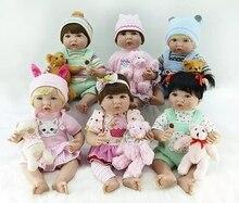 купить menina Boneca Reborn 53cm Silicone Vinyl Dolls soft cotton body Reborn Baby Doll Newborn Lifelike Bebe Reborn Doll Birthday Gift по цене 5268.47 рублей