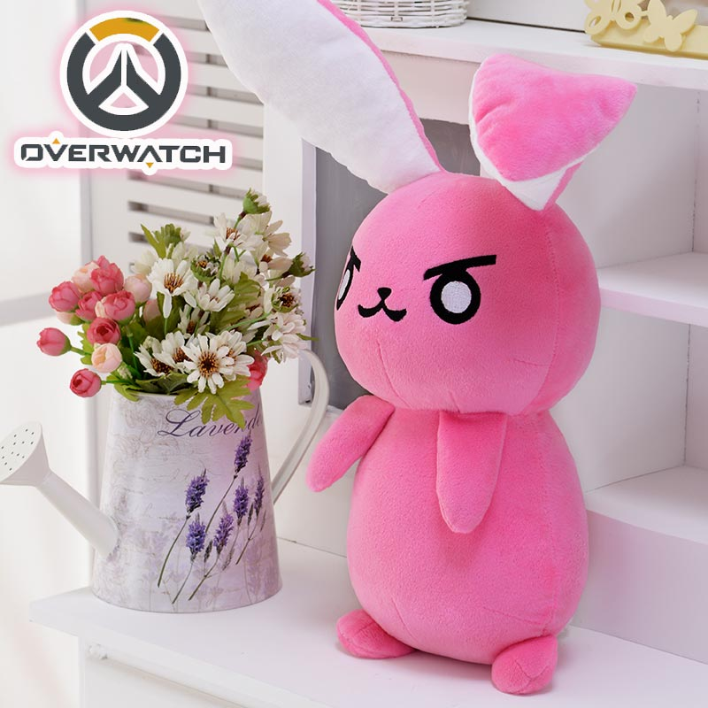 50CM Game Overwatches Pink Dva Rabbit Plush Toys The Last Bastion OW Ganymede Solf Plush Pillow Dolls Toys for Children Gifts 2