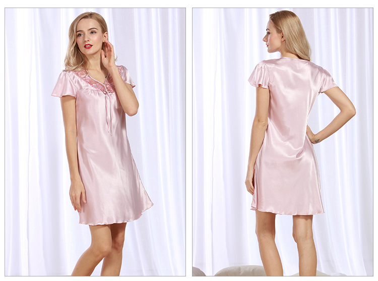 99392dd5a2e Detail Feedback Questions about Women Sexy Silk Satin Nightgown ...