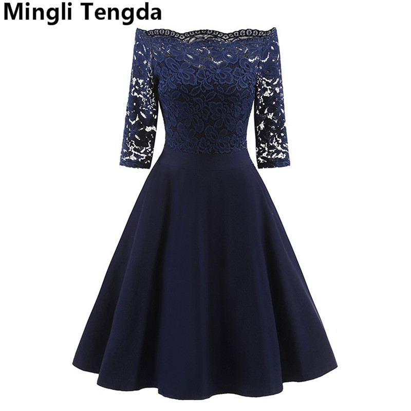 Mingli Tengda Wine Red Lace Mother of the Bride Dresses Off the Shoulder Mother of the