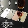 Kry cajas del teléfono de lujo de cristal de espejo de la cubierta de tpu suave del silicio para el iphone 7 plus case iphone 7 case 5S 5 6 s más 5 sí case