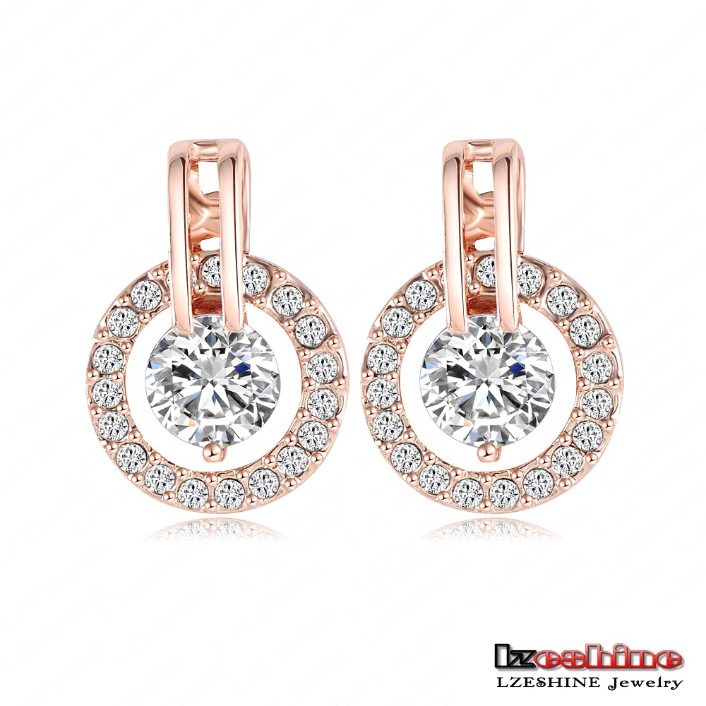 Lzeshine New 2018 Big Sale Wedding Jewelry Sets Rose Gold Color