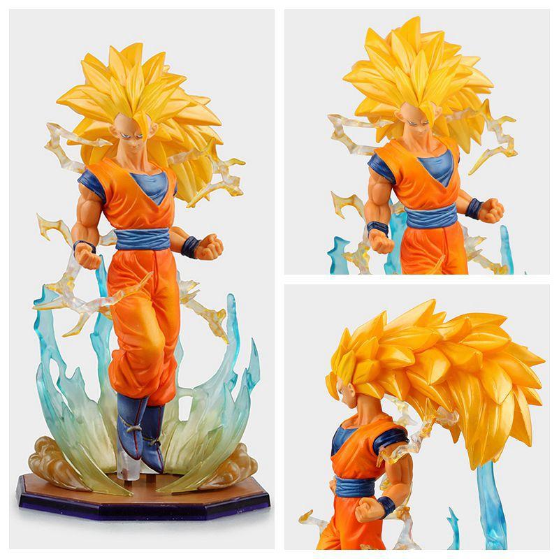 Anime Dragon Ball Super Saiyan 3 Son Gokou PVC Action Figure Collectible  Model Toy 18cm KT2841