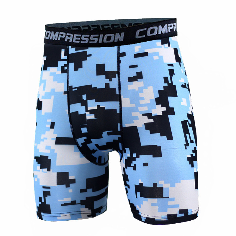 Compression Mens Shorts Crossfit 2018 Summer Camouflage Bermuda Shorts Bodybuilding Men Shorts Fitness Tights Camo Shorts Men
