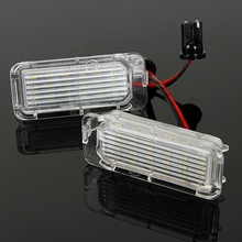 2Pcs 12V LED Number License Plate Light Bulbs Lamp For Ford/Fiesta/Focus/Kuga/C-MAX/Mondeo Car Light