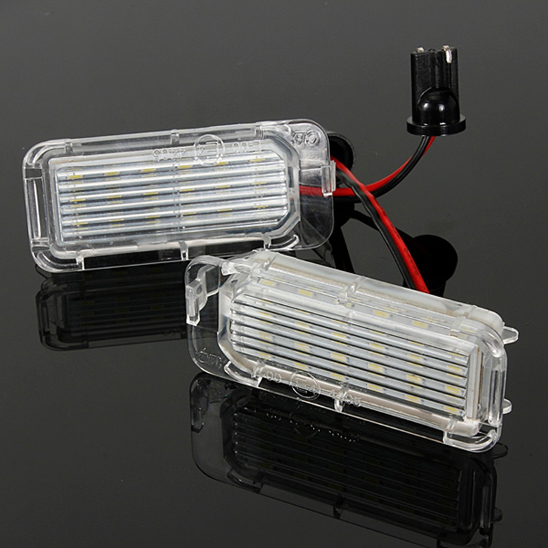 2Pcs 12V LED Number License Plate Light Bulbs Lamp For Ford/Fiesta/Focus/Kuga/C-MAX/Mondeo Car Light 2pcs car led license number plate light lamp 6w 12v 24 led white light for ford focus 2 c max