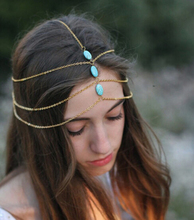 SBY0663 New Style Fashion Hair Band Clip Headband Blue Stone hair Accessories For Women Girls