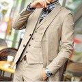 Envío gratis por encargo hombre novio para smoking de la alta calidad champagne hombres de trajes de boda formal novio visten el vestido
