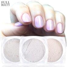 Полная красота 1 коробка блеск для ногтей зеркальный перламутровый порошок Полировка Для ногтей декоративная раковина для ногтей хромированная пигментная пыль CHB/BL
