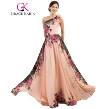 Backless Flower Long Evening Dress Deep V Neck Floral Formal Dresses