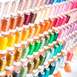 Image 3 - خيط التطريز المصنوع من البوليستر ، 120 لون لكل مجموعة لماكينات Brother Babylock Janome Singer Pfaff Husqvaran