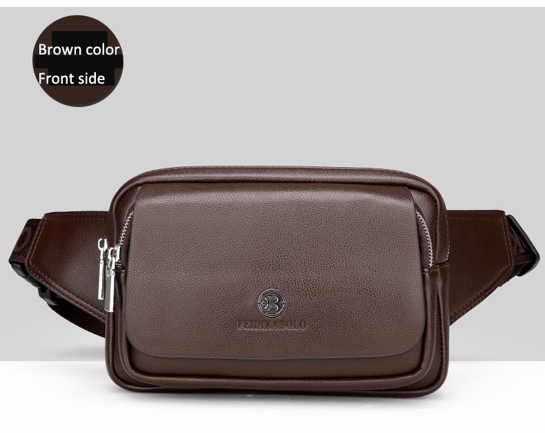2016 Men Travel Bags Mens Leather Belt Bag Waist Pack Men Waist Bag Fanny Pack Leather Waist Pochetes Homem Bolso Cintura (28)