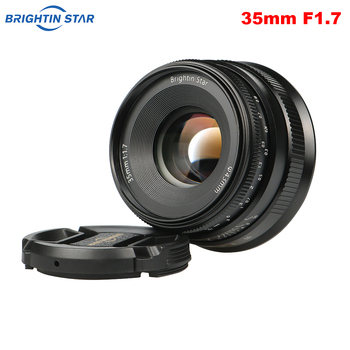 Brightin Star 35mm F1.7 Large Aperture Prime Lens Manual Focus Lens for Sony E-mount / for Fuji / M4/3 mount Mirrorless Cameras