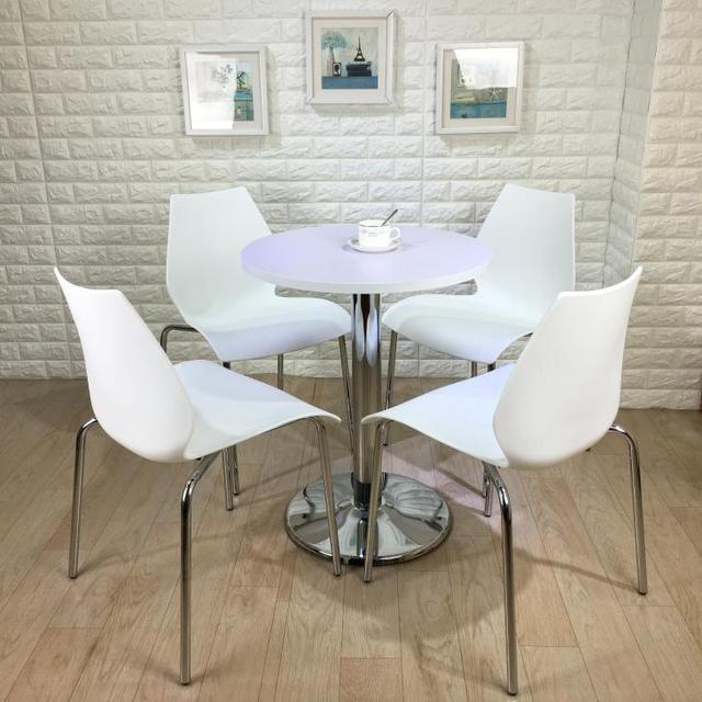 Barato sillas de calabaza pequeña mesa redonda para discutir ...