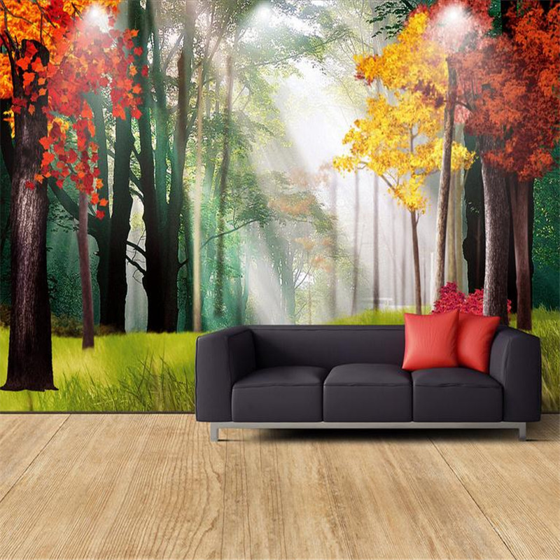 custom 3d decorating photo wallpaper bedroom living room TV sofo background wall mural large nature forest landscape wallpaper custom baby wallpaper snow white and the seven dwarfs bedroom for the children s room mural backdrop stereoscopic 3d
