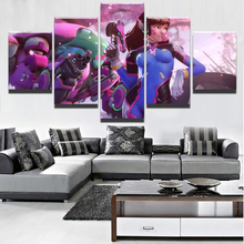 Wall Art Framework Top-Rated Canvas Print 5 Pieces Overwatchs D.Va Painting  For Living Room Home Decorative Picture Game Poster