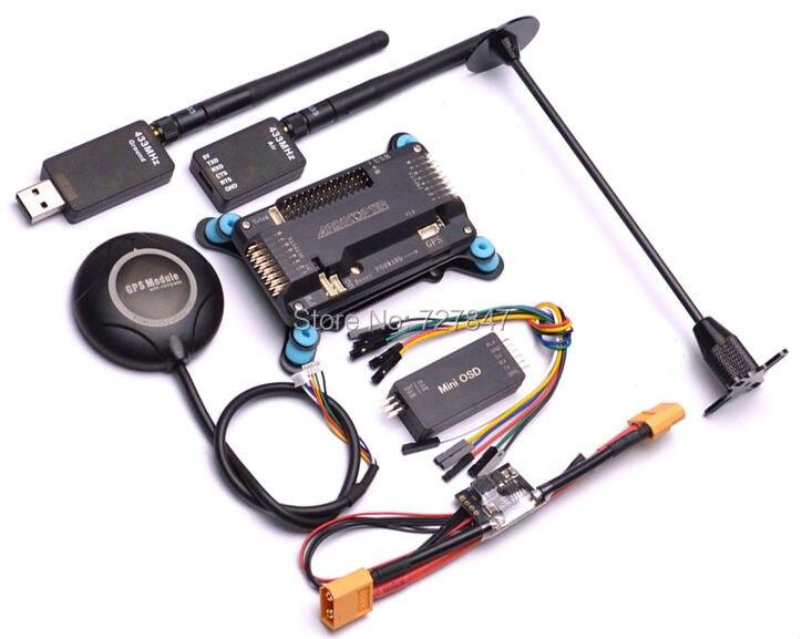 APM APM2.6 контроллер w/амортизатор Neo m8n Подставки для GPS в автомобиль держатель 433 мГц 433 телеметрии Мощность модуль minim OSD