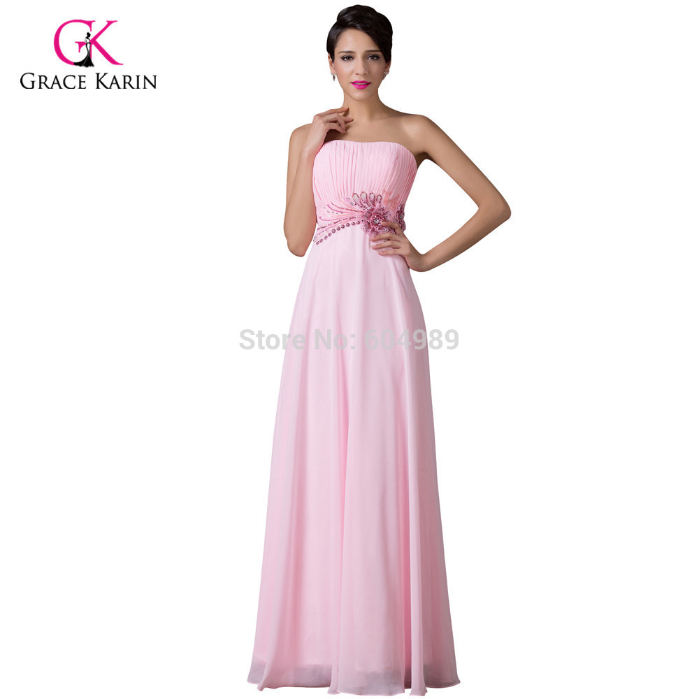 ̀ •́ Grace Karin Strapless Pink elegant Long Evening Dresses 2018 ...