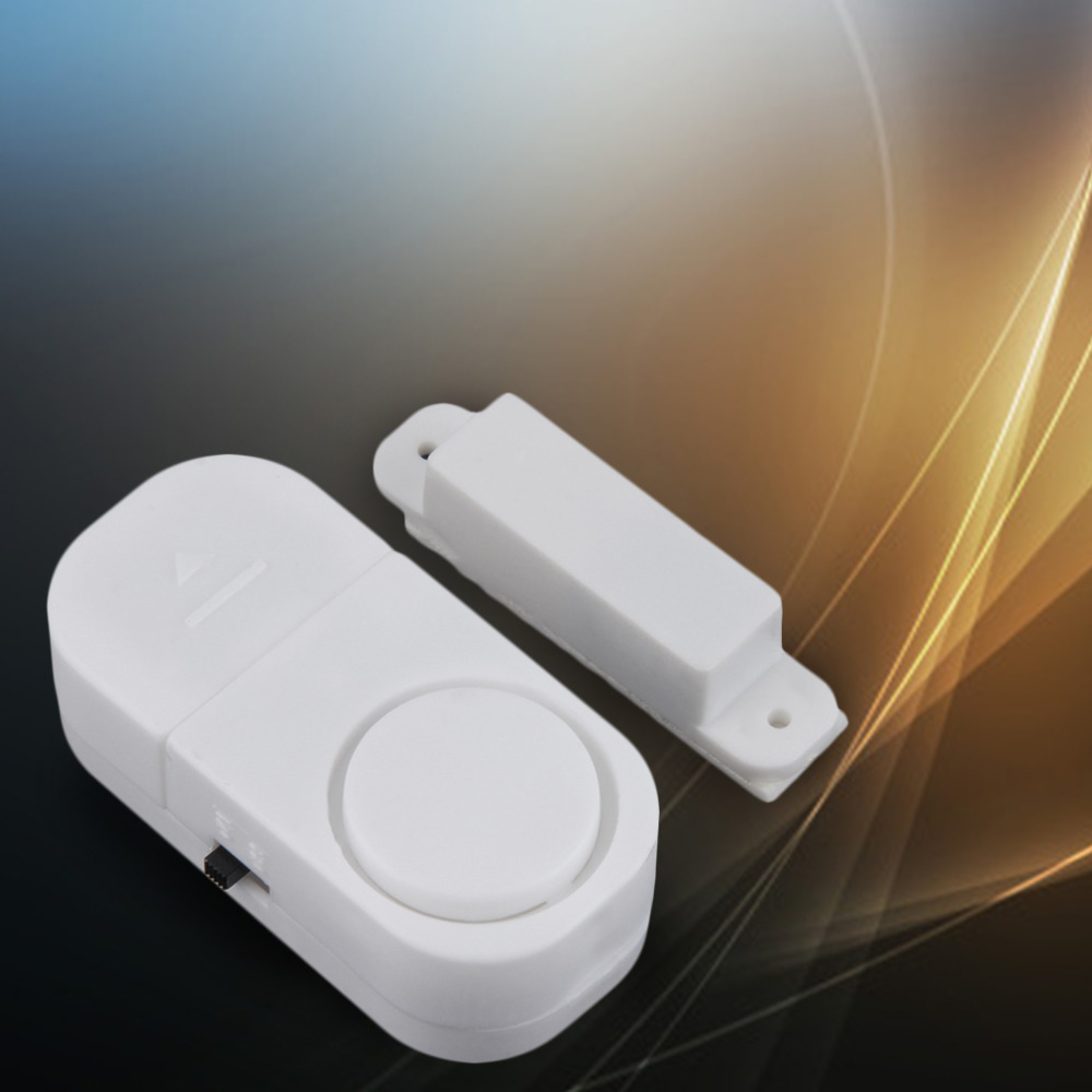 Self-adhesive Wireless Magnetic Sensor Home Door Window Entry Burglar Security Alarm Safety Guardian Protector System White New 5 pack home off white silver tone magnetic catch door stopper