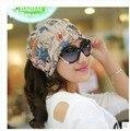 Весна, Лето, Осень женщины в многоцветный узор комплект из head кепка много - функциональный амфибия тюрбан шляпа в баотоу