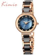 KIMIO Мода Montre Femme Высокое Качество Кварцевые Часы 6 Цвет сплав Группа Роскошный Офис Марка Женщины Часы 2016 Reloj Mujer 508