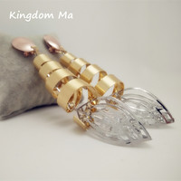 Kingdom Ma Thời Trang Cường Điệu Phụ Nữ Lớn Xoắn Ốc Bông Tai Phụ Nữ Girl Dangle Vàng Bông Tai Màu Trang Sức Dài Món Quà Ngày Valentine