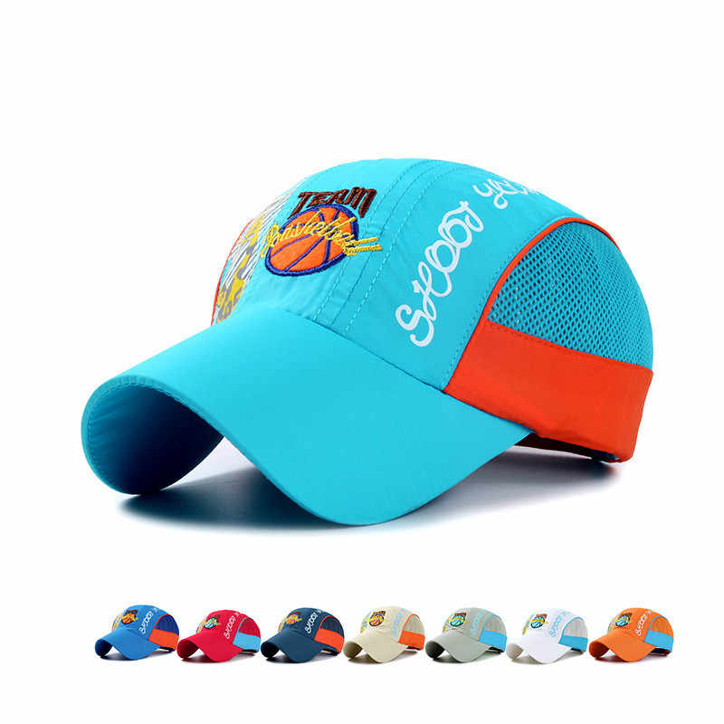 6b981ad36c1 Classic Kids Breathable Quick Dry Baseball Caps Boys Girls Basketball  Football Embroidery Mesh Hip Hop snapback