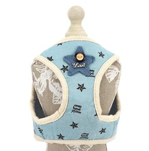 Dog Pet Harness Korean Style Soft Cat Breathable Vest for Small Medium Leash Include Clothes S M L