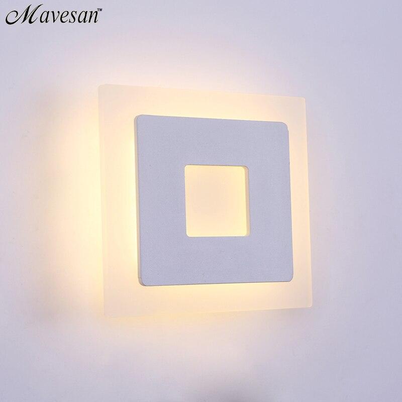 Moderne LED Mur Lampe Pour Salle De Bains Chambre 18 W Applique Murale Blanc Éclairage Intérieur Lampe AC85-265V LED Lumière De Mur Intérieur éclairage