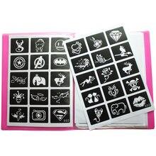 446 шт/лот многоразовые наклейки трафареты для татуировок рисования